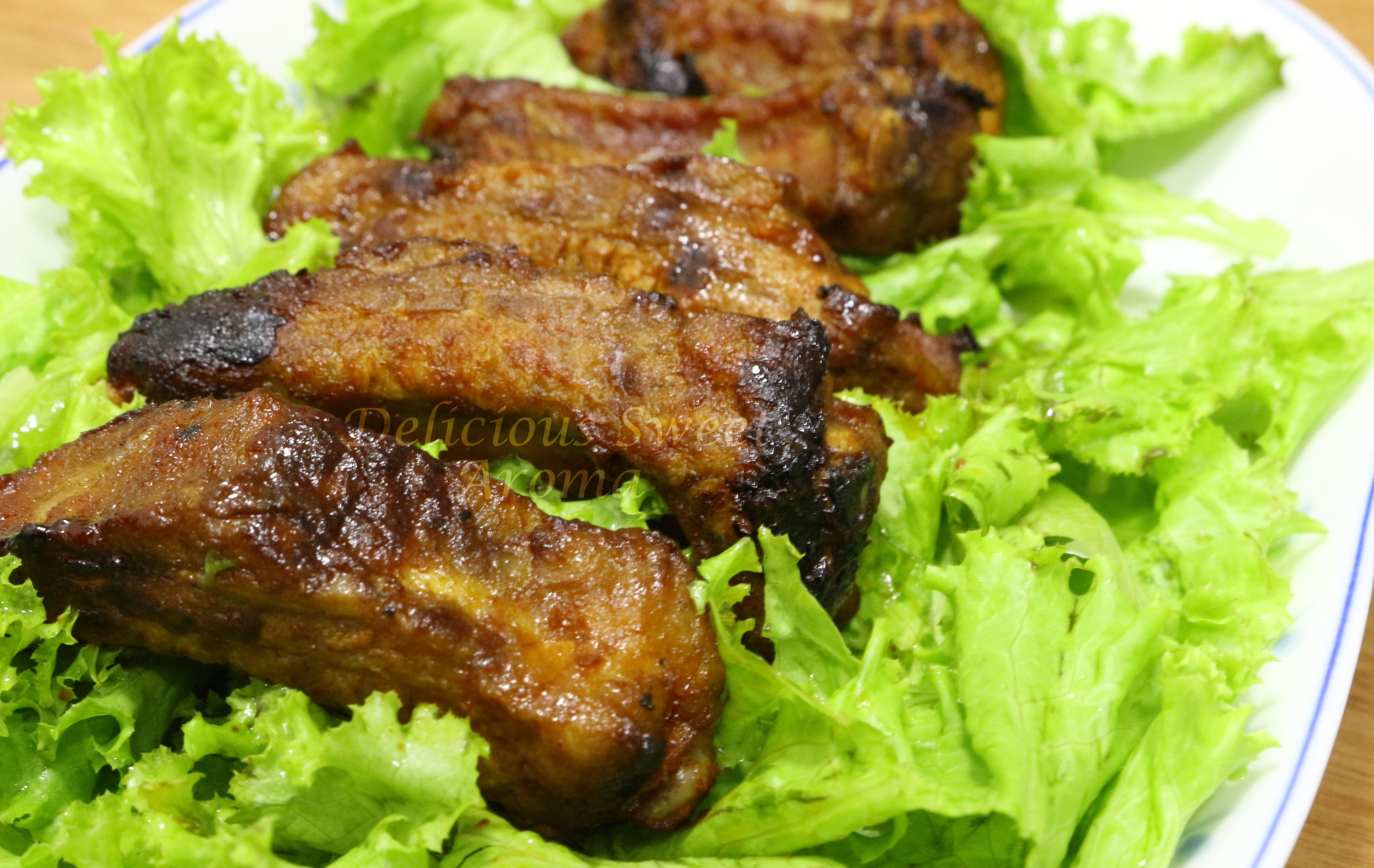 roasted pork ribs in the oven