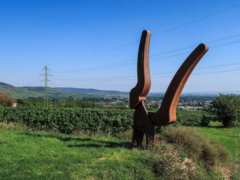 Rebschere am Weinweg Langenlois