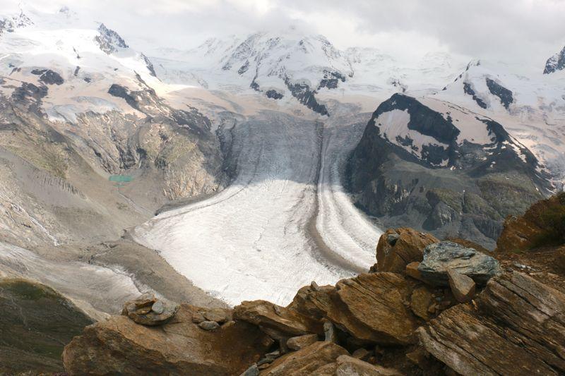 Zermatt Gornergrat mit Gletscher