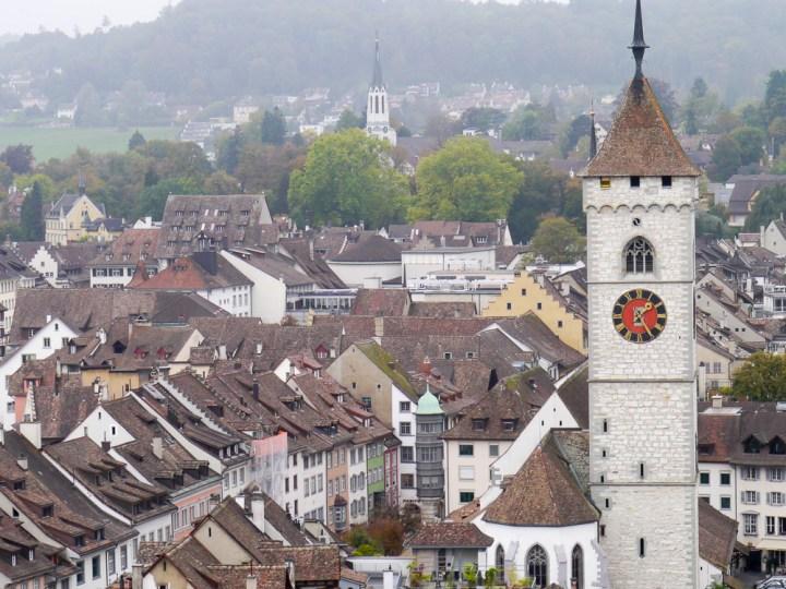 Blick auf Schaffhausen von der Festung Munot