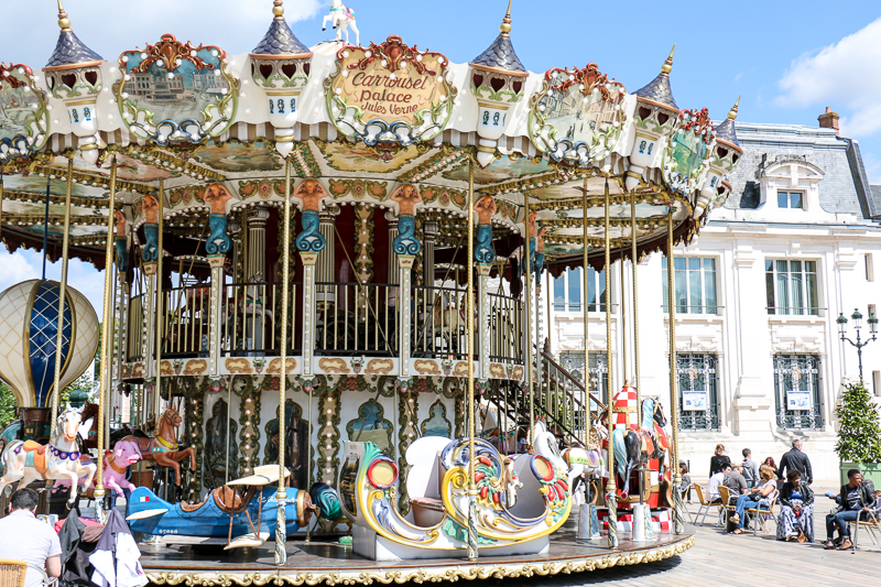 Karusell in Orléans, Frankreich