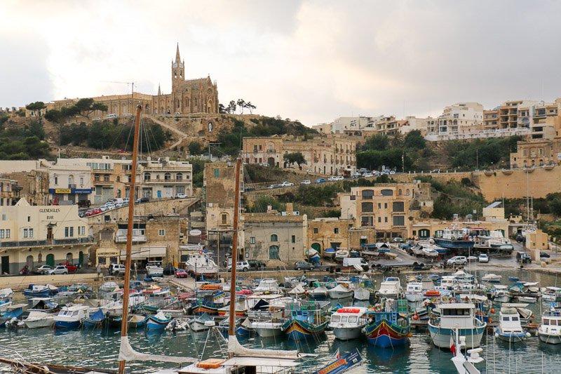 Mgarr, der Hafen von Gozo