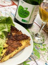 Einstimmen auf ein paar Tage Normandie mit Quiche und Cidre