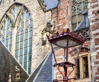 Amsterdam Rotlichtbezirk hinter der Oude Kerk