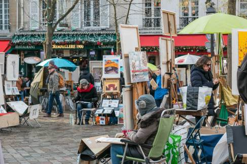 place du tertre, paris