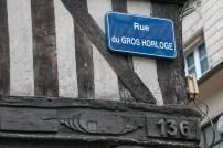 Rue du Gros Horloge in Rouen