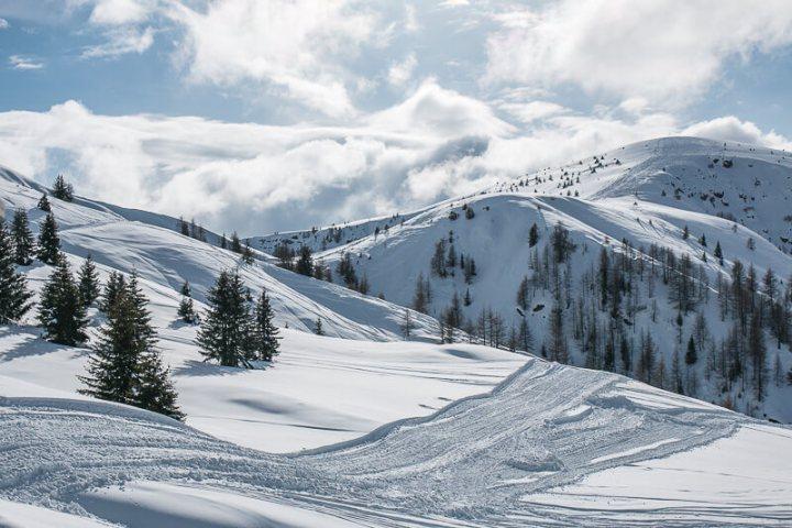 Im Skigebiet Meran 2000 findet jeder das Passende: Wandern, die Piste hinunter wedeln, rodeln oder mit Schneeschuhen durch den Wald stapfen.