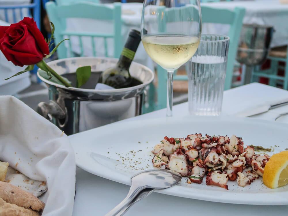 Dinner bei Mario im Hafen von Naoussa