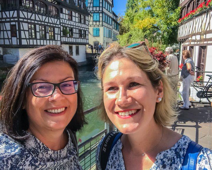 Frankreich trifft Deutschland: Laurène (re.) und Antje