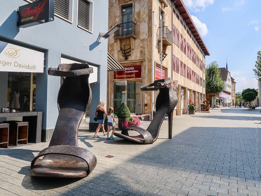 Städtle, die Fußgängerzone in Vaduz