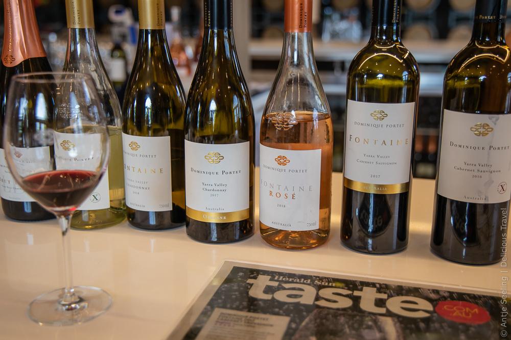 Weintasting bei Dominique Portet, Yarra Valley
