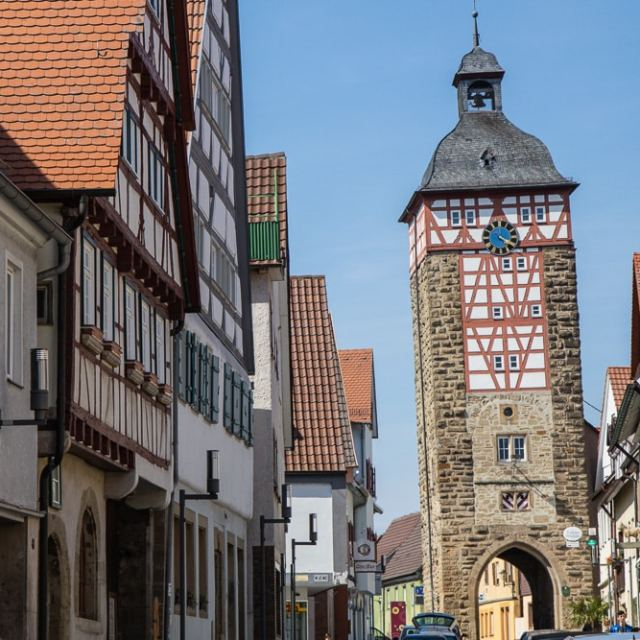 Bönnigheim hat auch einen schiefen Turm