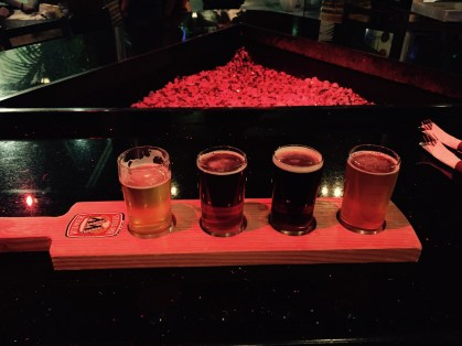 Beer flight at The Rack, Woodland Hills, CA