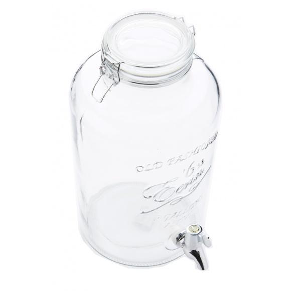 fontaine a boisson avec robinet metal et support 7 6l