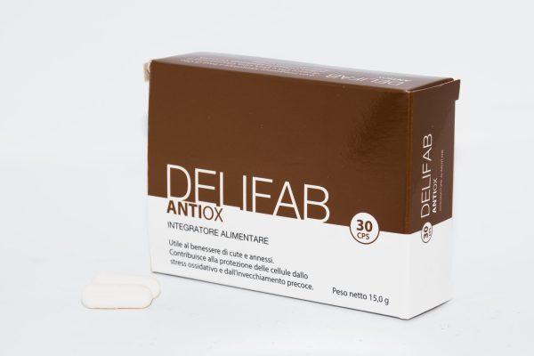 delifab antiox, invecchiamento cutaneo, pelle, integratore, dermatologia, rughe,