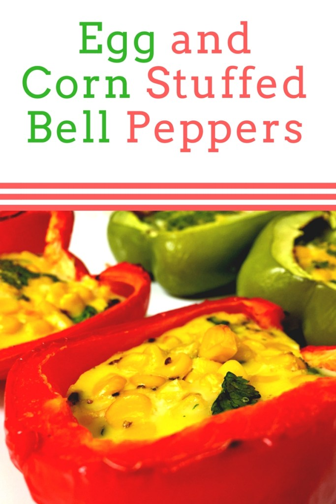 Egg and Corn Stuffed Bell Peppers