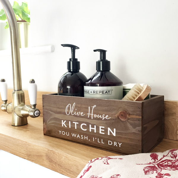 personalised kitchen sink tidy