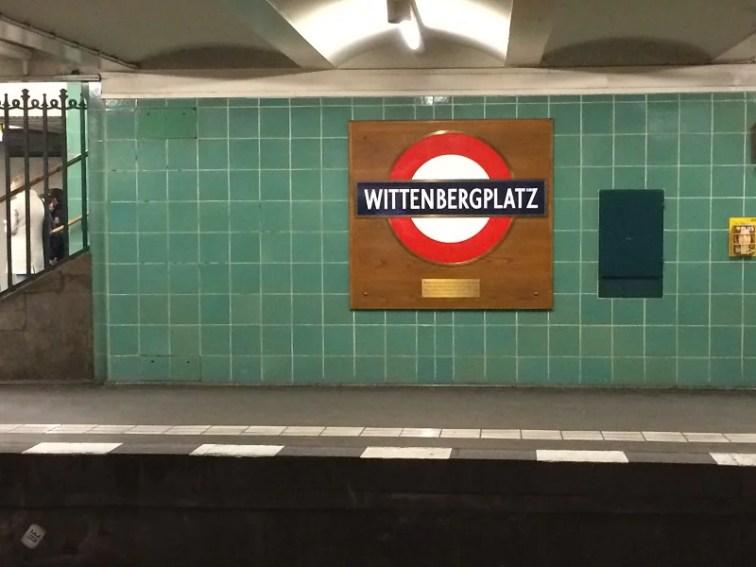 U-Bahn Wittenbergplatz