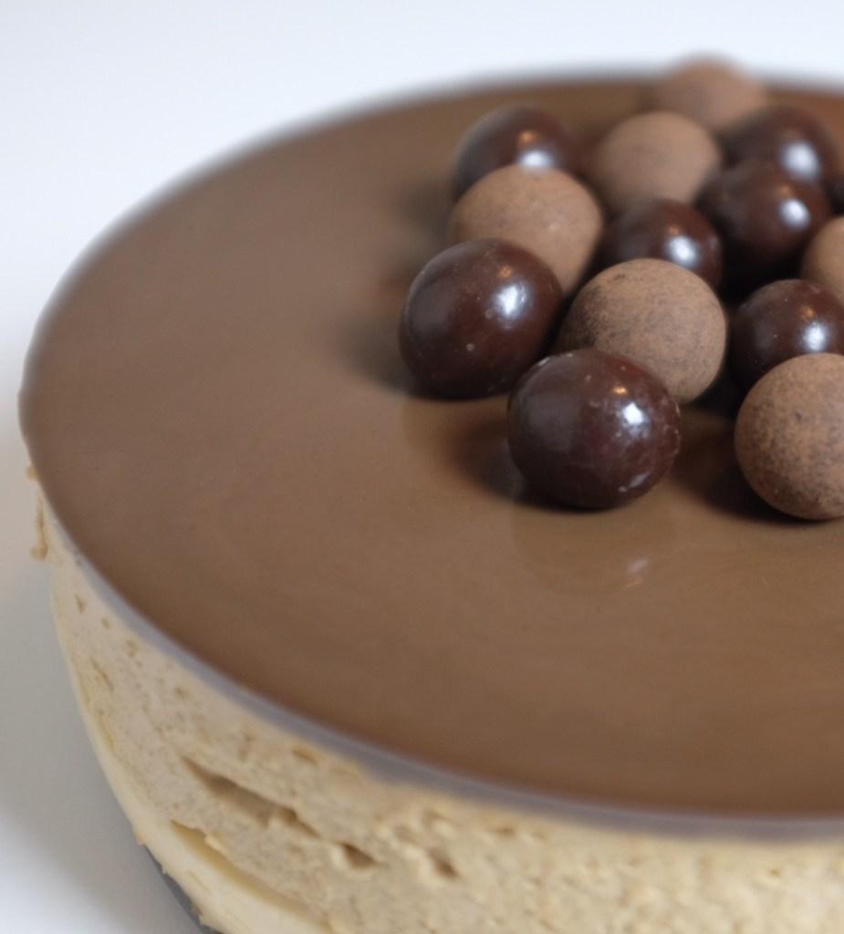 Coffee caramel cremeux cake
