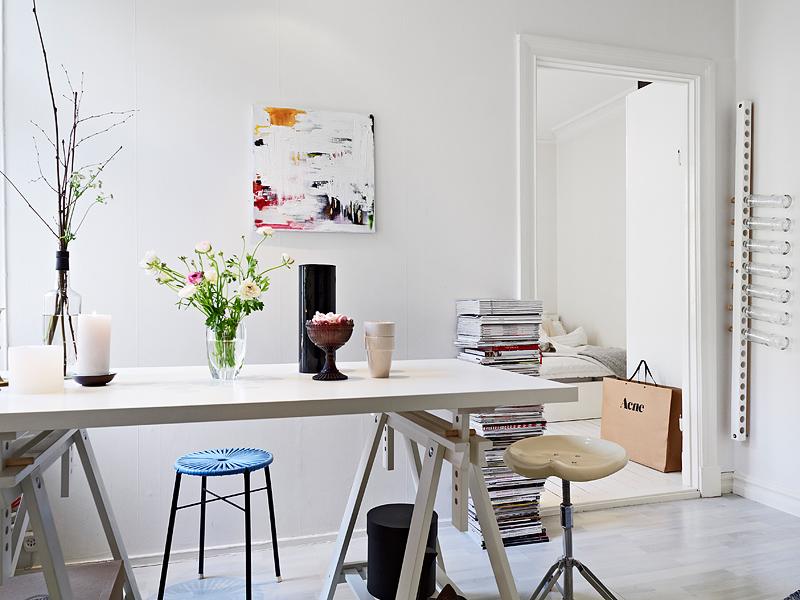 mural de saln muebles de ikea mesa de estudio de caballetes diseo de interiores decoracin pisos