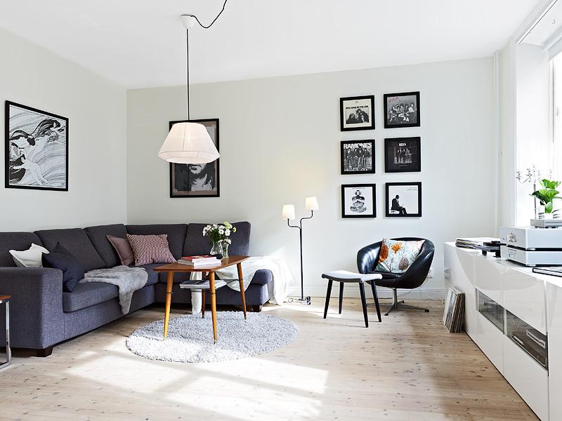Mueble bajo en el sal n blog decoraci n estilo n rdico - Muebles bajos para comedor ...