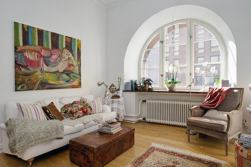 49m² de blanco estilo nórdico con toques exóticos y vintage - Blog ...