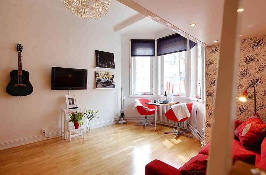 Decoraci n de un estudio de 21 m blog tienda decoraci n for Decoracion monoambiente 30m2