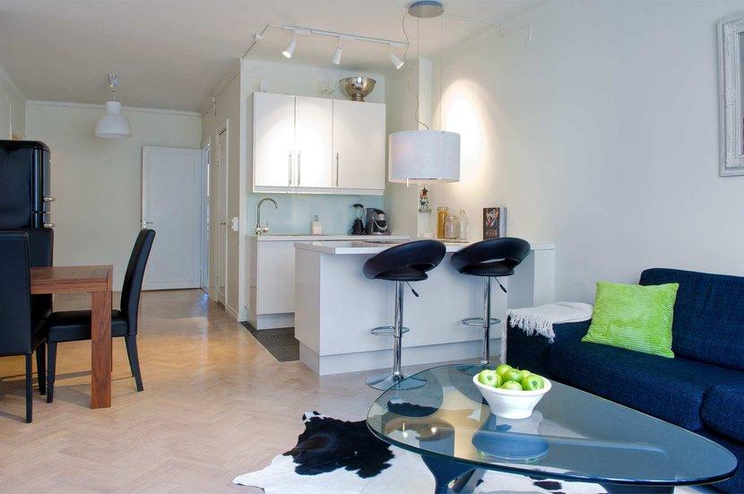 Un piso de 46m bien distribuido y organizado blog for Apartamentos pequenos bien decorados