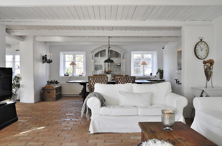 R stico moderno en blanco blog decoraci n estilo n rdico - Decorar salon rustico moderno ...