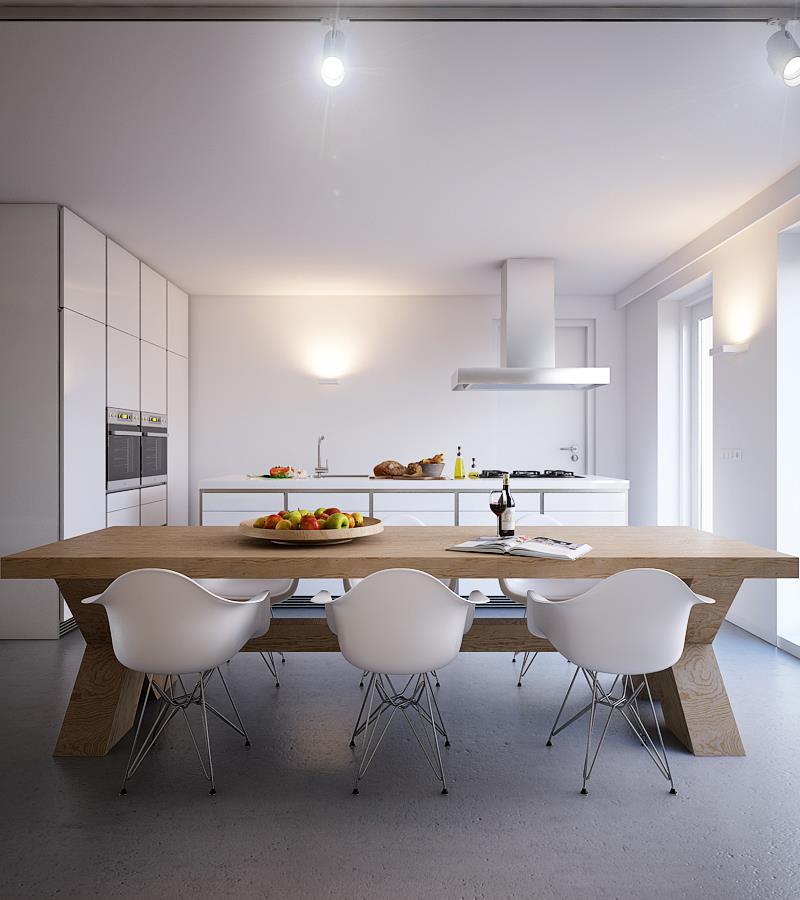 Una cocina blanca moderna descuento en deco smart para - Cocinas nordicas ...
