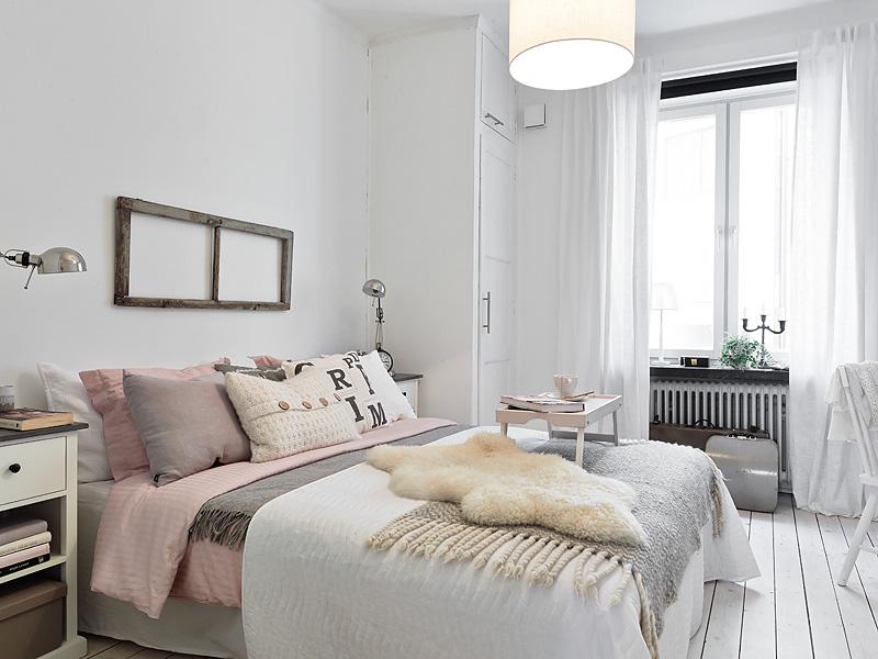 Decoración femenina   romántica en blanco, gris y rosa   blog ...