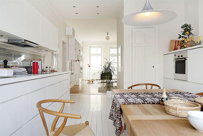 Una cocina blanca nórdica   blog decoración estilo nórdico ...