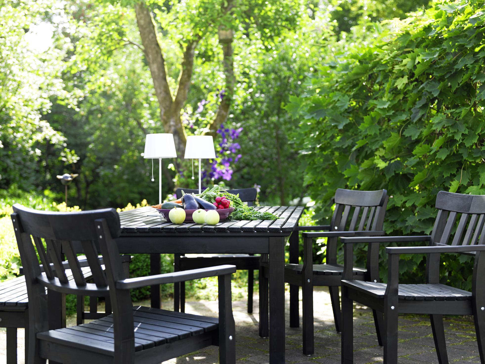 Ikea en el jard n y en la terraza en blanco y negro blog decoraci n estilo - Ikea desserte jardin ...
