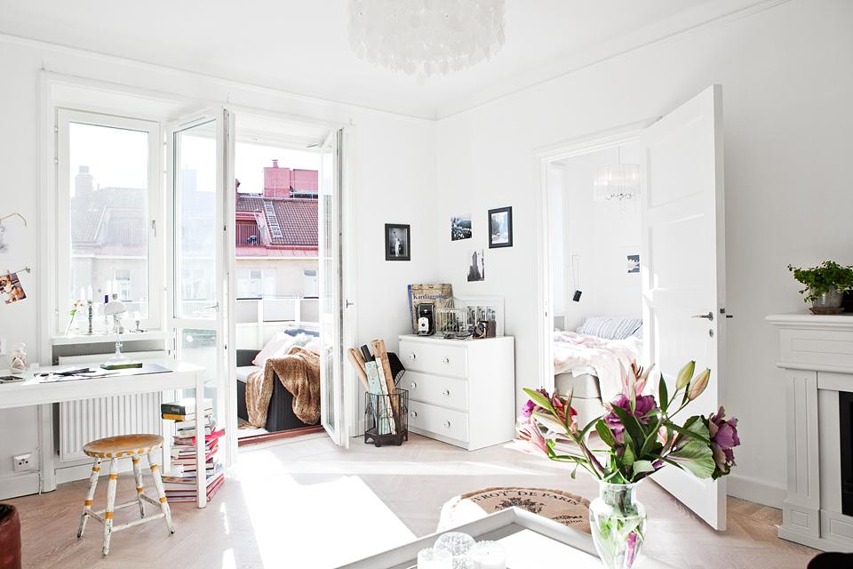Mini piso n rdico de 36 m con balc n vistas y muchos detalles acogedores blog tienda - Decoracion pisos ...