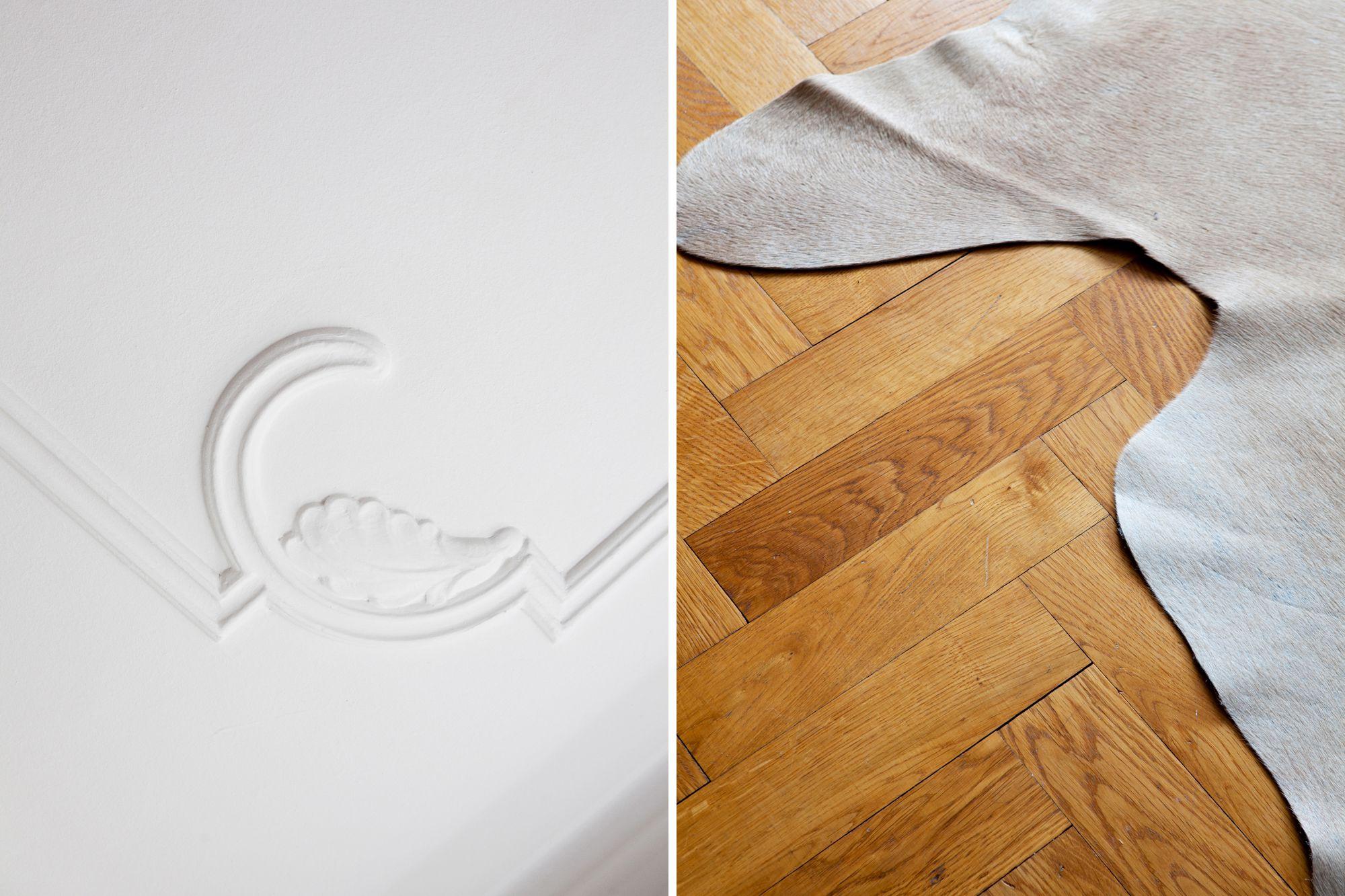 Paredes grises, muebles blancos, suelo de madera - Blog decoración ...