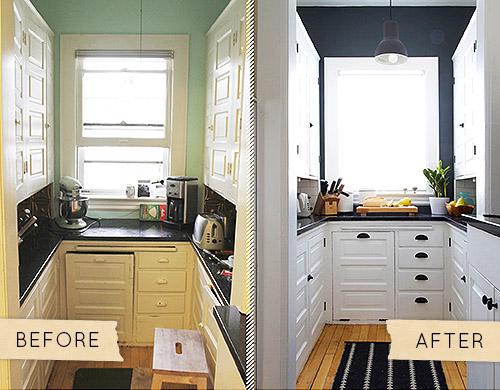 Antes despu s reforma de una cocina con pintura blog - Pintura interior barata ...
