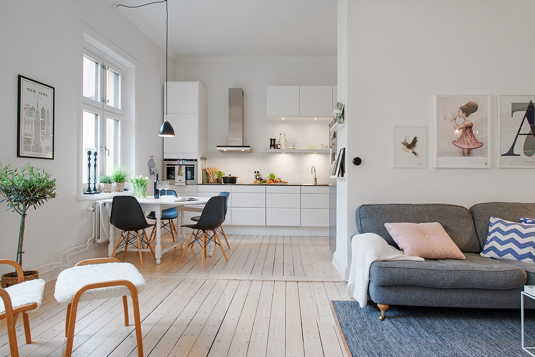Estilo n rdico moderno en un edificio de 1885 blog - Decoration appartement scandinave ...