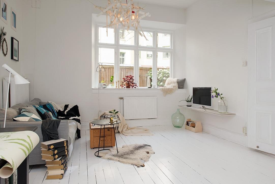 Ingeniosa distribuci n en 38 m blog tienda decoraci n for Decoracion de pisos muy pequenos