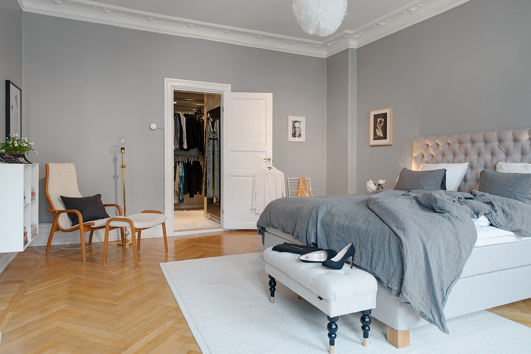 Gris y blanco siempre un acierto blog tienda decoraci n for Cuartos decorados azul