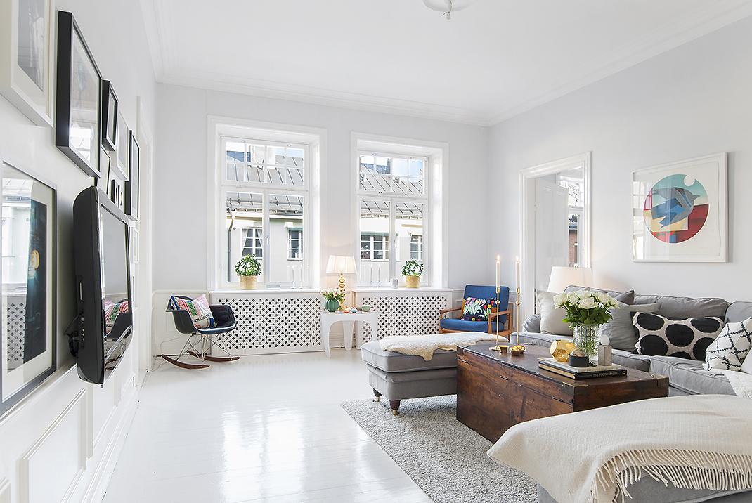 Suelo de madera pintada de blanco Blog tienda decoracin estilo