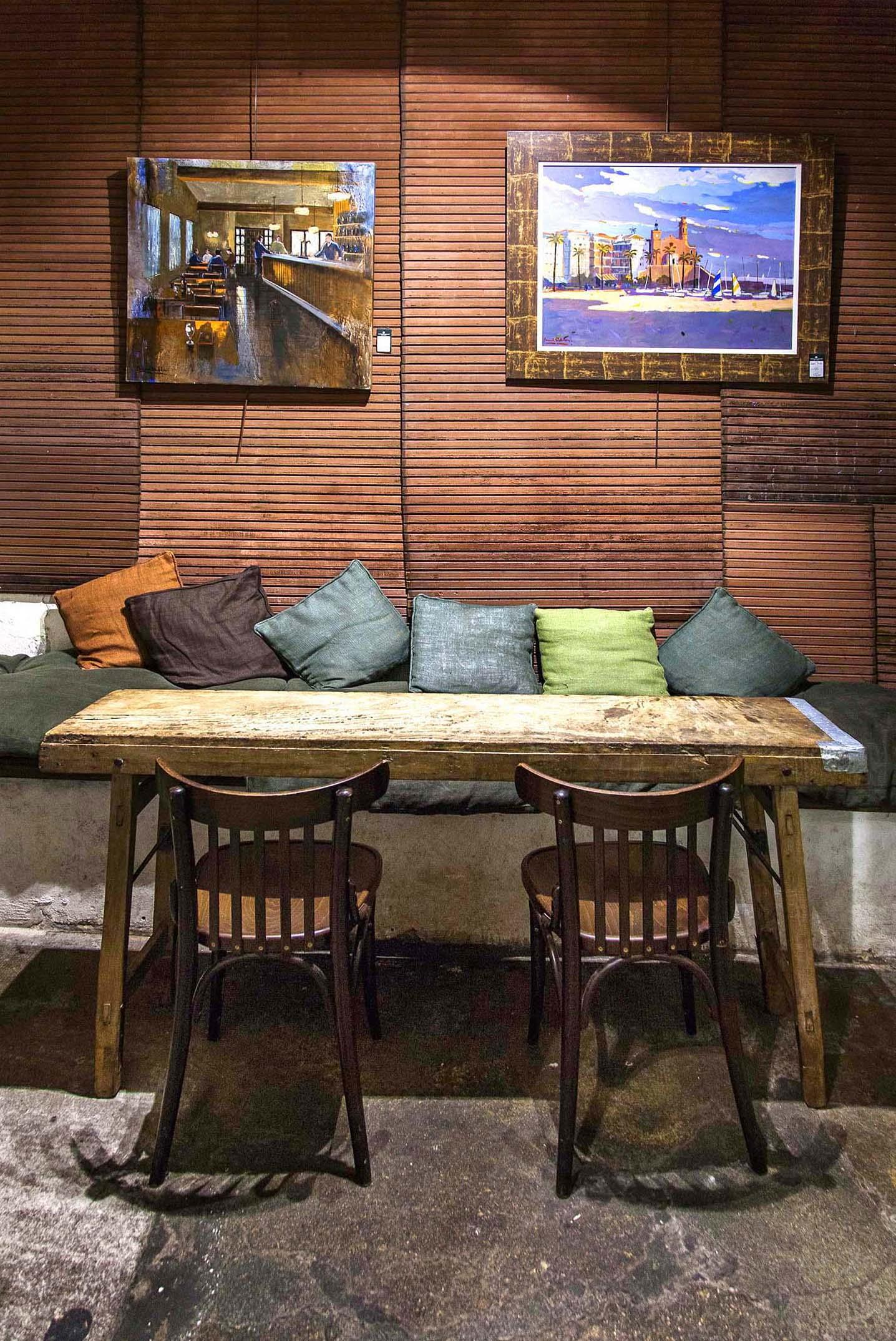 suelos hidrulicos vintage espaa a corua estilo vintage retro rstico bares cafes decoracin mesas