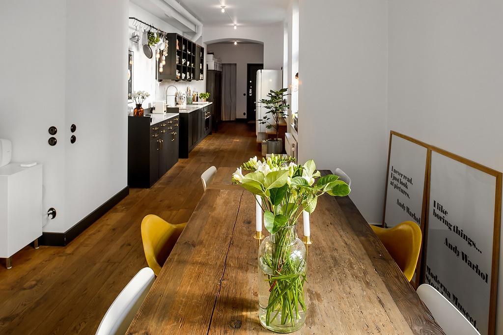 Cocina de forma rectangular   blog decoración estilo nórdico ...