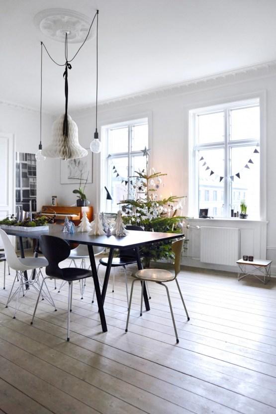 El toque navideño nórdico en grises