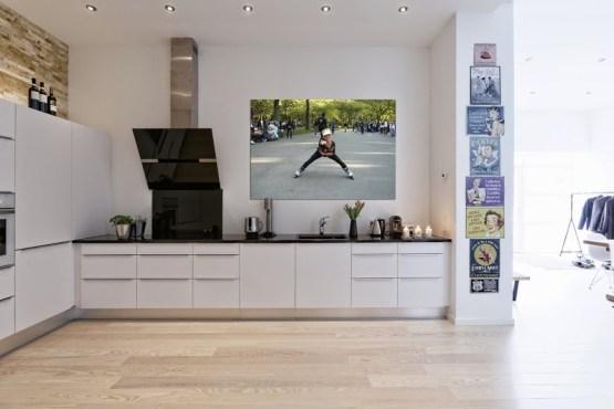 pared de piedra decoración mobiliario nórdico y americano interiores diafanos estilo nórdico escandinavo decoración áticos nórdicos cocinas blancas danesas modernas bonitas calidades decoración blog decoracion interiores áticos nórdicos de lujo