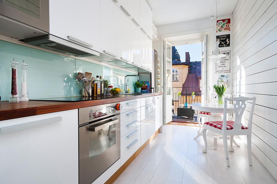 Inspiradora cocina n rdica blog tienda decoraci n estilo for Cocinas angostas