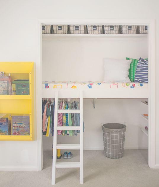 Antes/Después – De armario infantil a 'dormitorio'