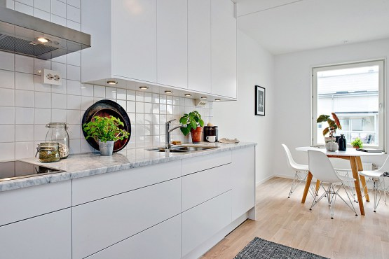 marmol en decoracin marmol cocinas modernas estilo nrdico estilo minimalista encimeras y revestimientos en la cocina