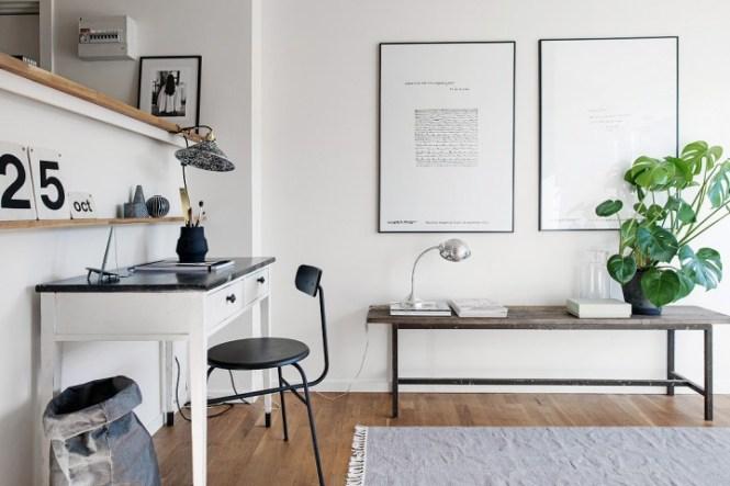 mini pisos pequeños deco espacios abiertos decoración mini aticos decoración gris blanco decoración de estilo nórdico blog de decoración nórdica ático estilo nórdico atico calido acogedor