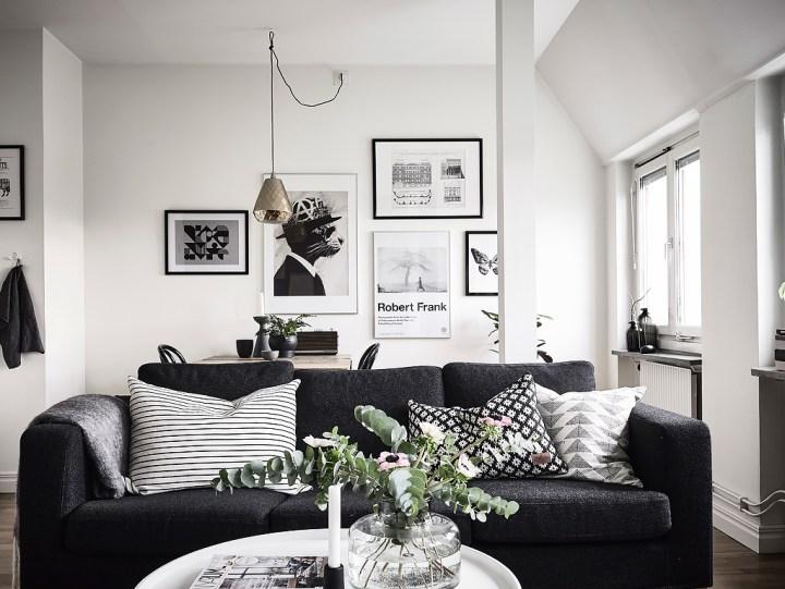 Poco espacio y mucho estilo blog decoraci n estilo for Decoracion de interiores gris y blanco
