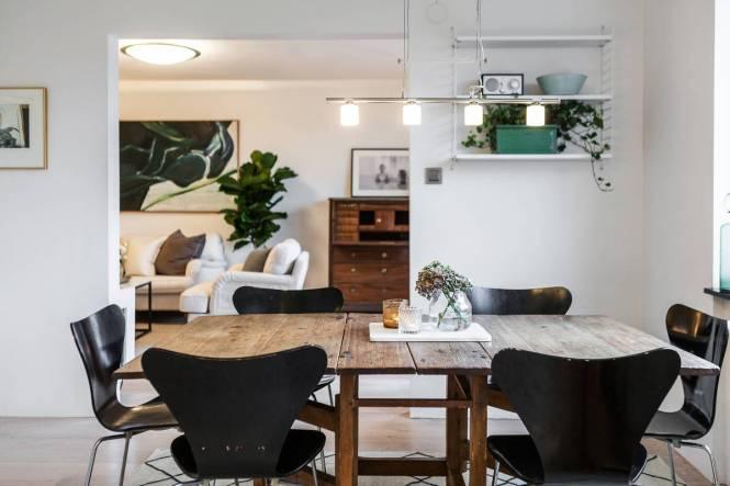 tele en salón salon nordico chimenea abierta salón con chimenea librería empotrada estilo nórdico piso estilo nórdico escandinavo decoración de salon blog decoración nórdica